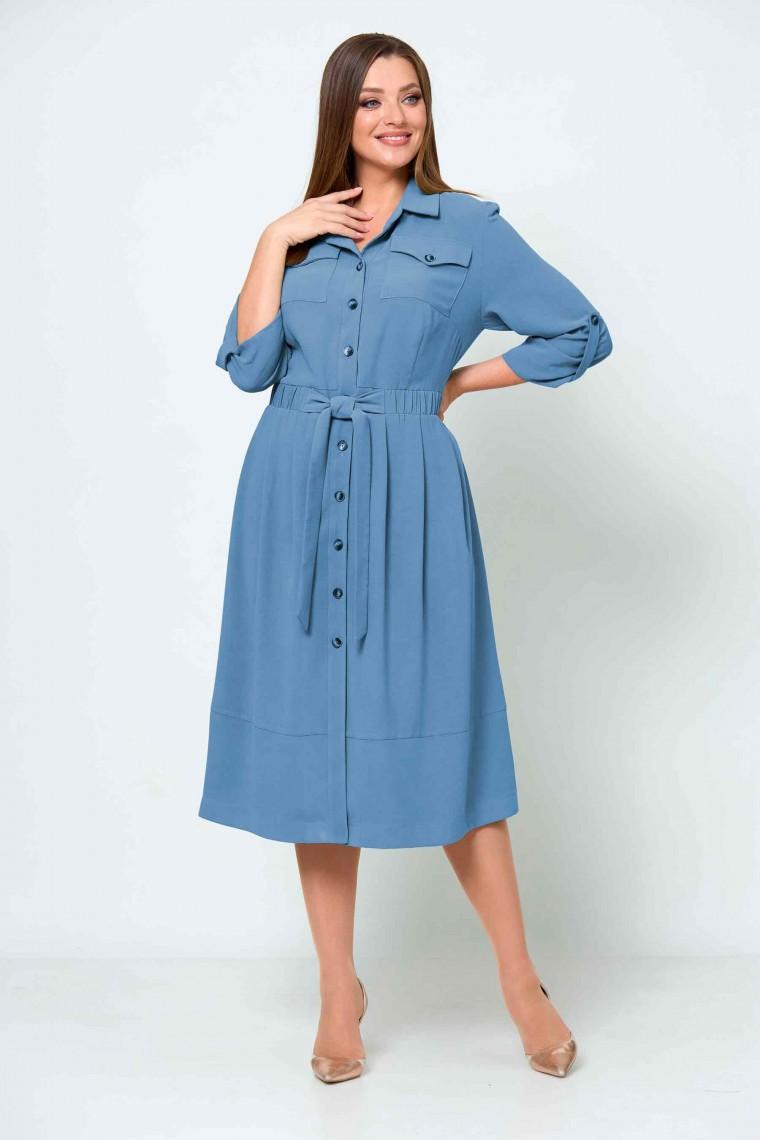 Платье 2539/2 голубой