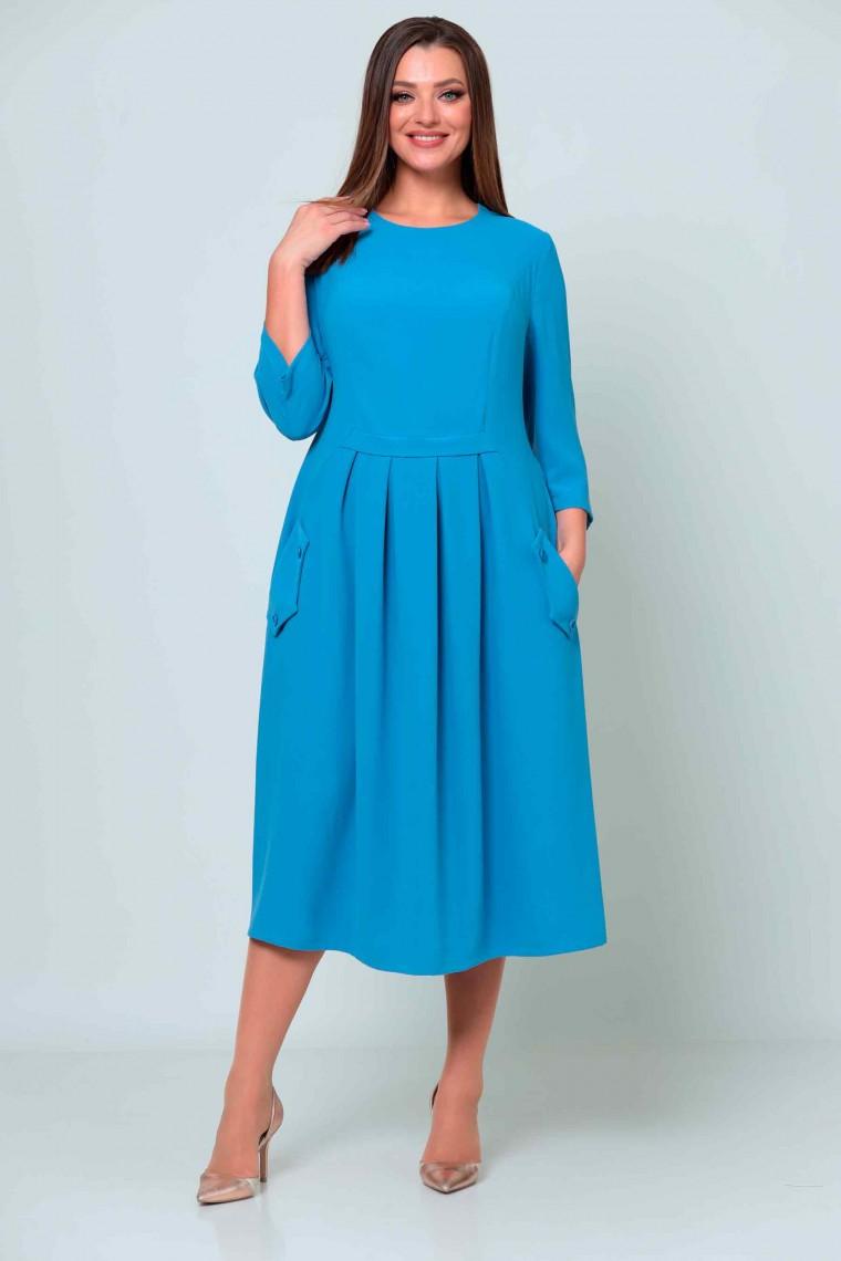Платье 2540/1 голубое