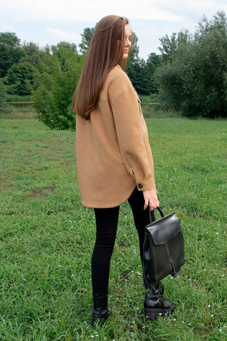 Пальто-рубашка, полупальто 3025 горчичное